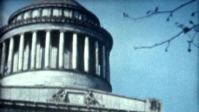 grant's tomb 1950's - president stock videos & royalty-free footage