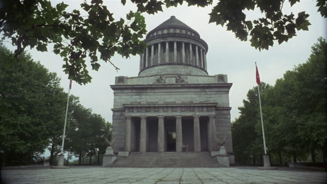 1969 ws la grant's tomb exterior, new york city, new york, usa - mausoleum stock videos and b-roll footage