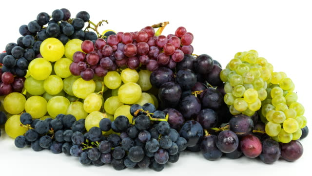 Grapes On White (4k)