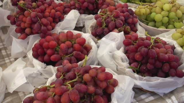 Grapes sold at Farmers Market