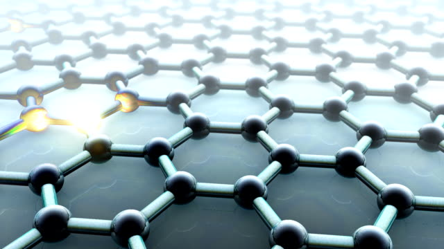 graphene conducting electricity - nanotecnologia video stock e b–roll