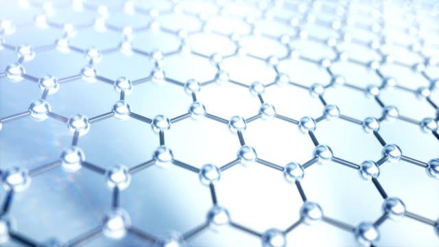 graphene layer of carbon atoms - graphite stock videos & royalty-free footage
