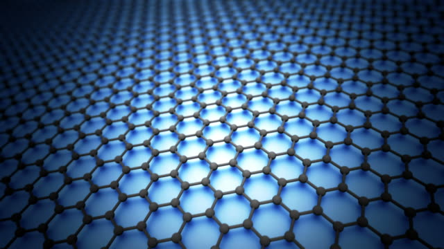 modello di esagoni loopable graphene sheet - nanotecnologia video stock e b–roll
