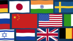 Graphic animation - National Flags of the world's 26 most powerful nations
