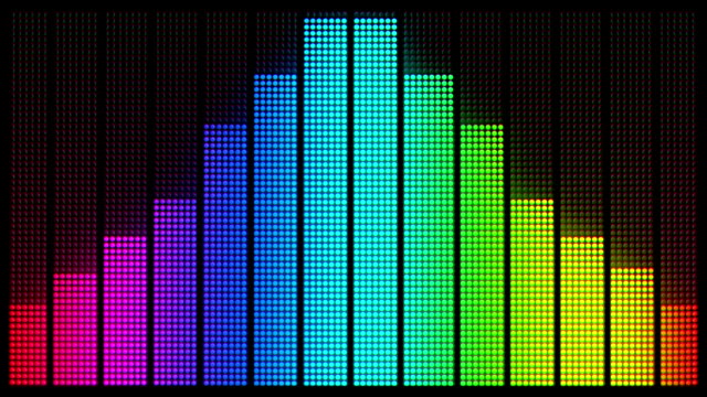 Graphic Equalizer: Multi-Coloured, Loopable Background