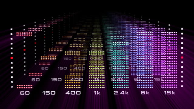 graphic equalizer sound spectrum - spectrum stock videos and b-roll footage