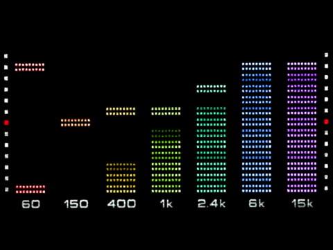 vídeos de stock e filmes b-roll de espectro de som equalizador gráfico - liquid crystal display