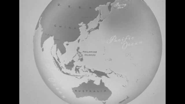 map of asia australia pacific ocean in globe shape zi to the philippine islands / cu philippine islands on map with graphics showing spot of volcanic... - pacific ocean stock videos & royalty-free footage