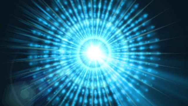 a graphic pulsar star radiates light and pulsates energy - 超常現象点の映像素材/bロール