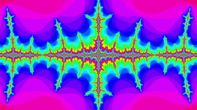 graphic sequence depicting a colourful julia set fractal. - kaleidoskop muster stock-videos und b-roll-filmmaterial
