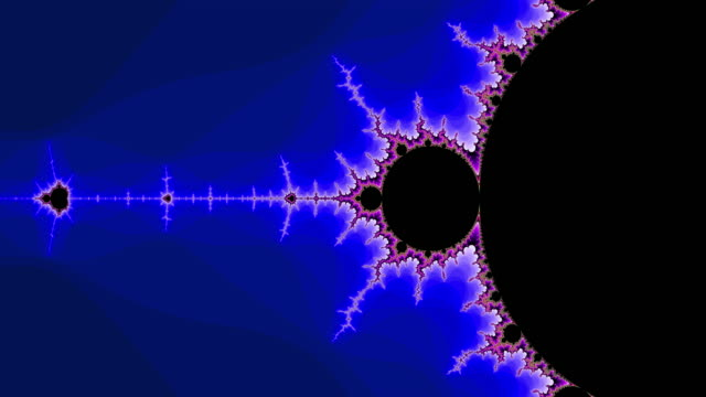 vidéos et rushes de graphic sequence depicting a colourful mandelbrot set. - infini