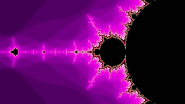 graphic sequence depicting a colourful mandelbrot set. - フラクタル点の映像素材/bロール