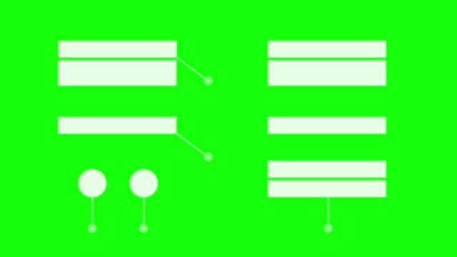 vídeos y material grabado en eventos de stock de hud - gráfico de interfaz gráfica de usuario , cajas gráficas vacías loopable. llave de croma. - diagrama