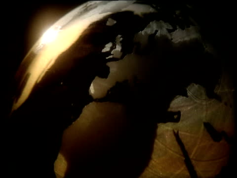 graphics: spinning translucent globe showing europe and north africa - norden stock-videos und b-roll-filmmaterial