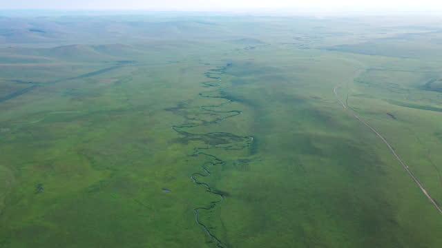 stockvideo's en b-roll-footage met grassland / inner mongolia, china - heuvellandschap