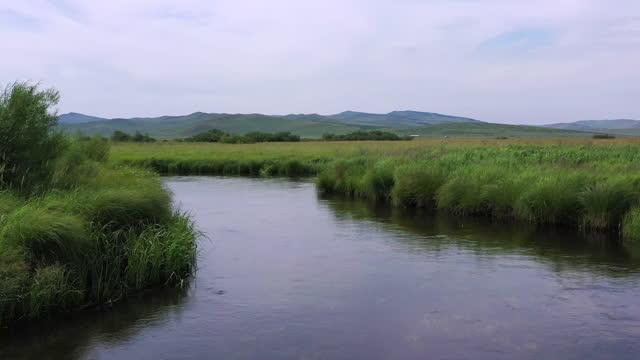 grassland / inner mongolia, china - bach stock-videos und b-roll-filmmaterial