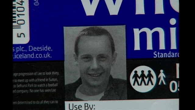 grave excavated in search for missing lee boxell close shot 'missing poster' with new 'age progression' image of lee boxell - missing poster stock videos & royalty-free footage