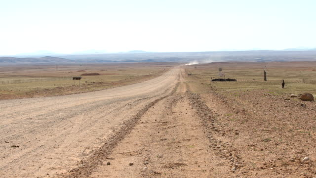 Gravel road at desert.