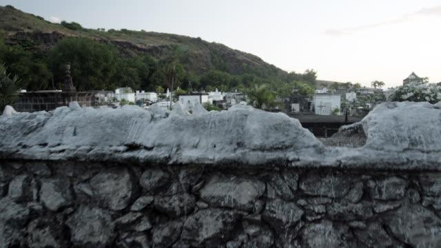 graves in saint paul marine cemetery, reunion - saint paul stock-videos und b-roll-filmmaterial