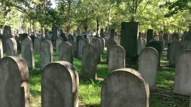 graves judaism - gravestone stock videos & royalty-free footage