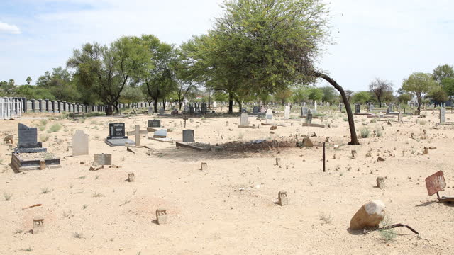 "graves stand at the ""1959 heroes and heroines memorial grave"" cemetery in windhoek, namibia, on march 25, 2019. in 1959, namibia was a colony of... - 1959 stock videos & royalty-free footage"