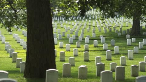 vídeos y material grabado en eventos de stock de ms pan gravestones at arlington national cemetery, mcclellan drive, arlington, virginia, usa - arlington