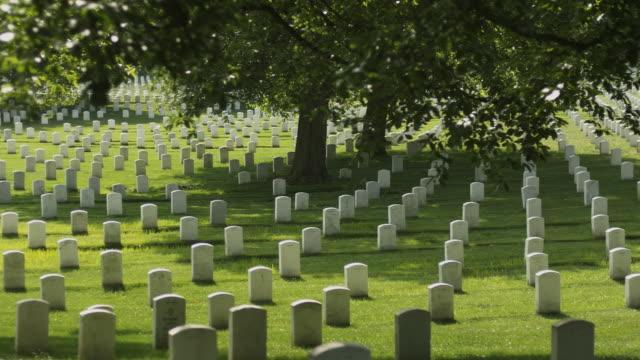 ms pan gravestones at arlington national cemetery, section 33, arlington, virginia, usa - cimitero nazionale di arlington video stock e b–roll
