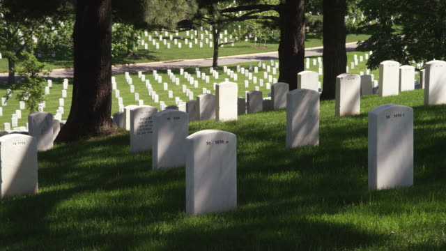 Gravestones in Arlington National Cemetery. Shot in May 2012.