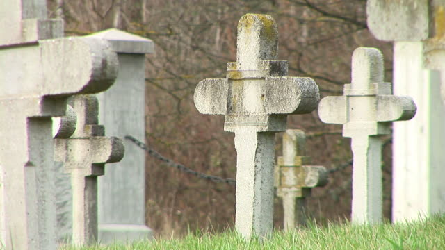 hd: gravestones - genocide stock videos & royalty-free footage
