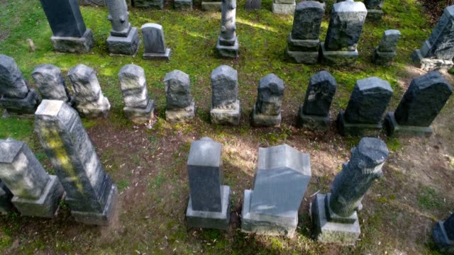 graveyard arial video - cemetery stock videos & royalty-free footage