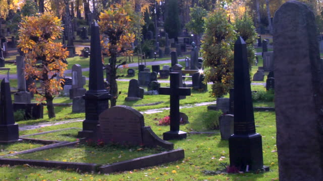 graveyard - cemetery stock videos & royalty-free footage