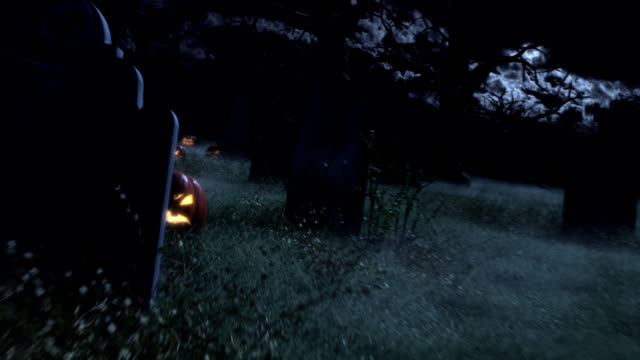 graveyard with pumpkins - last stock videos & royalty-free footage