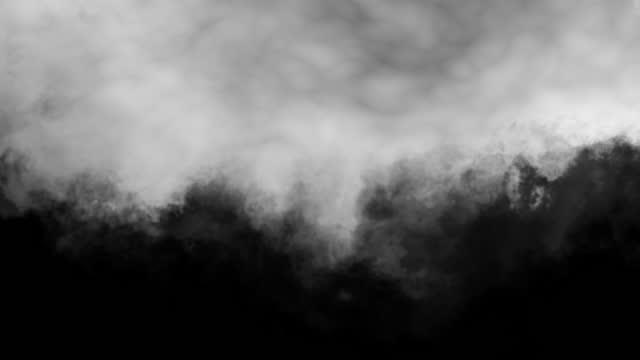 stockvideo's en b-roll-footage met a gray cloud hangs in a looped endless motion. - matte
