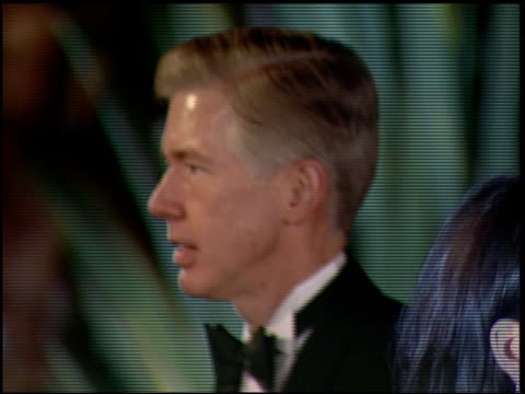 gray davis at the 1997 academy awards vanity fair party at the shrine auditorium in los angeles, california on march 24, 1997. - 第69回アカデミー賞点の映像素材/bロール