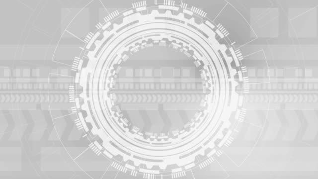 vidéos et rushes de animation de fond futuriste grise de technologie - mise au point au second plan