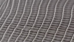 Gray Leather texture Surface genuine background close up.