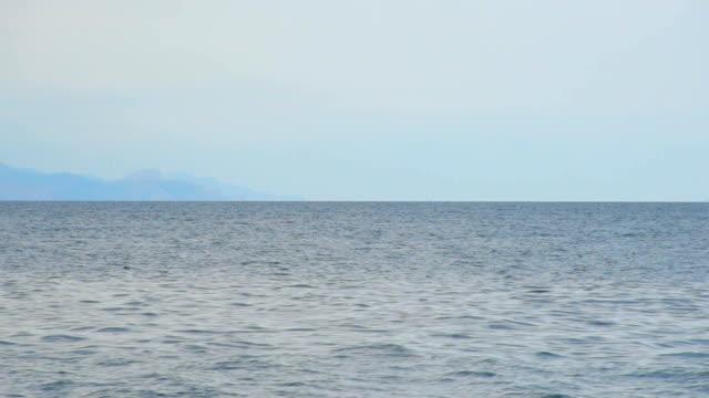 gray sea before rain