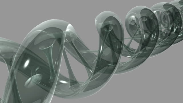 gray transparent animated dna strand turns. - high scale magnification stock videos & royalty-free footage