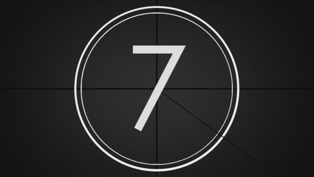 grayscale animated countdown (film leader) effect graphic (10 - 0) - grayscale stock videos and b-roll footage