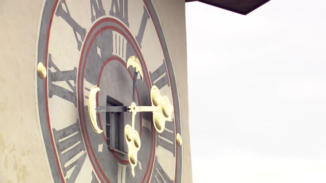 graz - clocktower in graz close up - traditionally austrian stock videos & royalty-free footage
