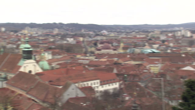 Graz - View of Graz from the clock tower
