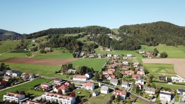 graz village scenery / steiermark, austria - village点の映像素材/bロール