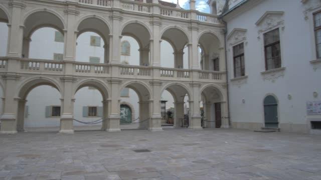 grazer landhaus in graz old town, graz, styria, austrian alps, austria, europe - walking point of view stock videos & royalty-free footage