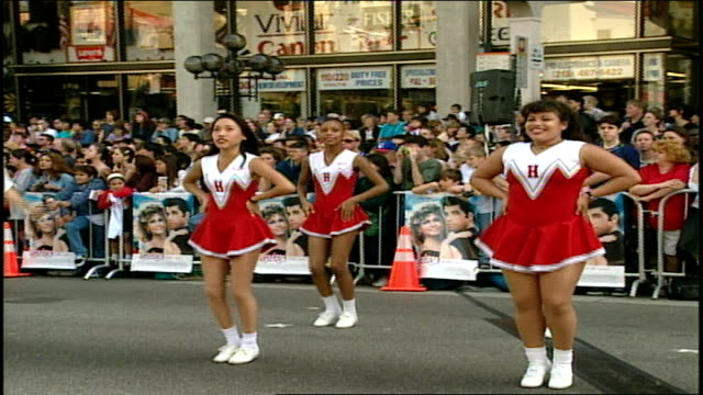 Grease 20th Anniversary Screening Marching Band Playing on Street at Premiere and In Front of Crowd