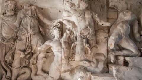 great altar of pergamon - human representation stock videos & royalty-free footage