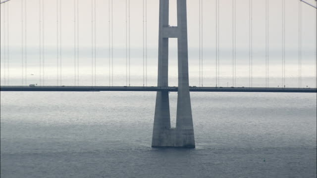 Great Belt Bridge - Aerial View - Capital Region, Copenhagen municipality, Denmark