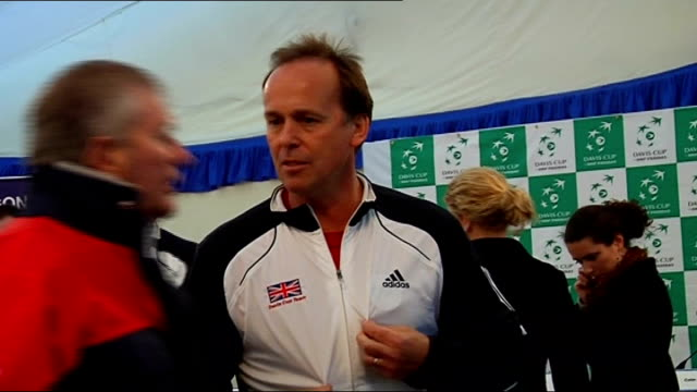 great britain davis cup team press conference; more of great britain davis cup team posing for photocall - davis cup stock videos & royalty-free footage
