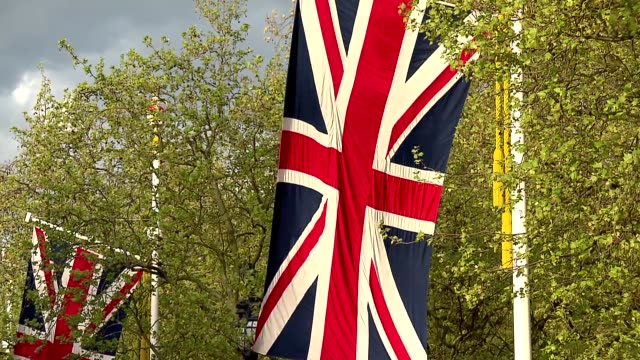 great britain flag - pole stock videos & royalty-free footage