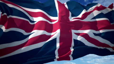great britain flag - flag stock videos & royalty-free footage