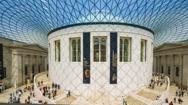 great court at the british museum in london. - british museum stock videos & royalty-free footage